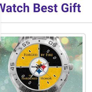 Pittsburgh Steelers Custom Stainless Steel Watch